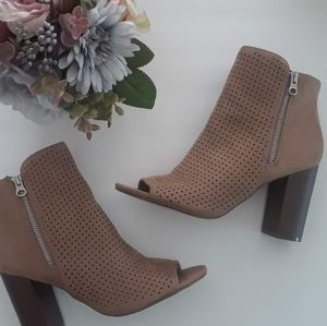 SM New York Open Toe Ankle Bootie